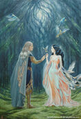 Elwe und Melian in Nan Elmoth