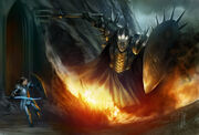 Fingolfin and morgoth by gerwell-d5srbbb