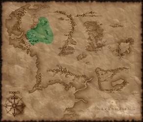 Location of Eriador in TATW