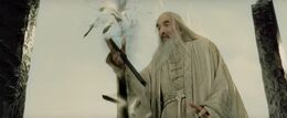 Saruman's staff is broken