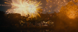 The Hobbit - Gandalf giving a fireworks display