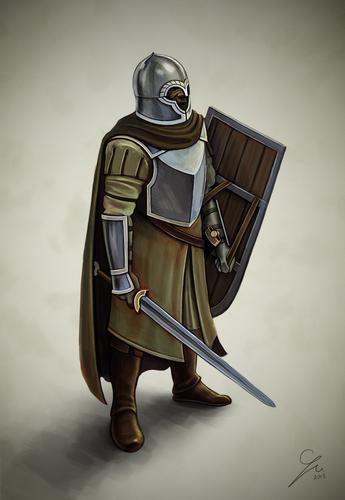 Żołnierz z Dor-lómin - autorstwa Grzegorza Wlazło