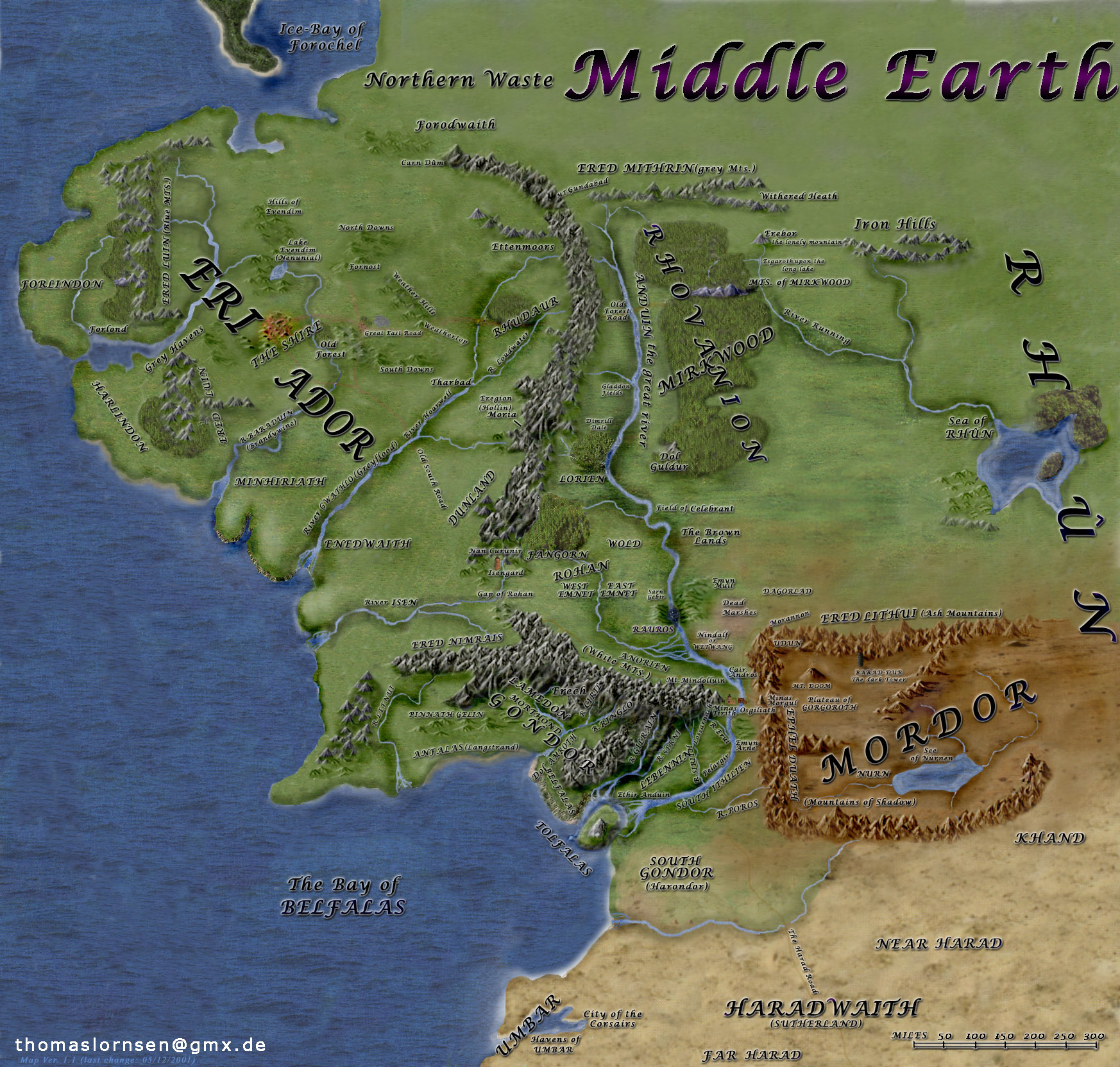 East Middle Earth Map%0A Middleearth