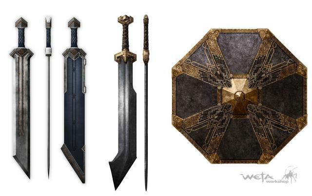 File:Erebor Short Sword and Shield for Regular Infantry.png