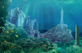 Numenor under the waves by cosmichawk-d41g321