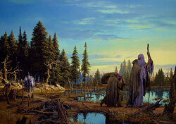 Ted Nasmith - Saruman is Overtaken