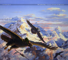 Ted Nasmith - Bilbo and the Eagles