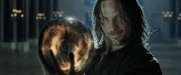 Aragorn holding a Palantir 01