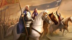 Glorfindel, Elrond and King Earnur unite against the Witch-King of Angmar