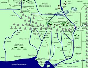 Map Gondor