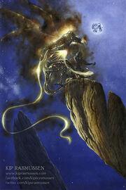 Glorfindel duels a balrog of morgoth by kiprasmussen