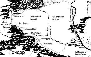 Карта Рохана