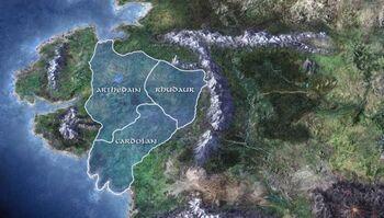 Mapa Arthedainu