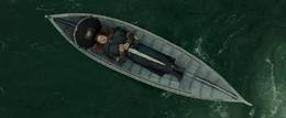 Boromir's body on boat - FOTR