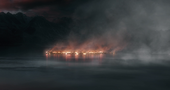 Lake town after Smaug attack