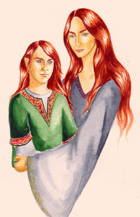 Nerdanel and Maitimo by Filat