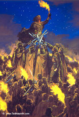 Ted Nasmith - The Oath of Fëanor