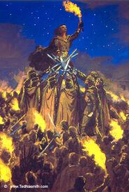 Ted Nasmith - The Oath of Fëanor