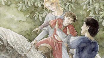 Elboron, Faramir i Éowna autorstwa Anke Eißmann