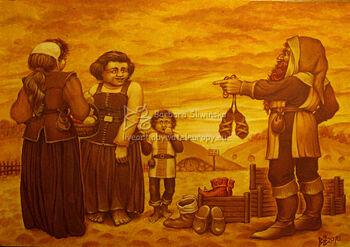 Handel w Michel Delving - autorstwa Barbary Śliwińskiej