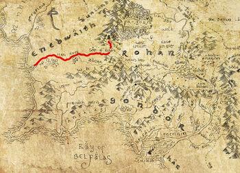 Isena na mapie Śródziemia
