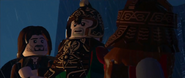 Lego lotr Theoden, Gimli, and Aragorn discuss the battle