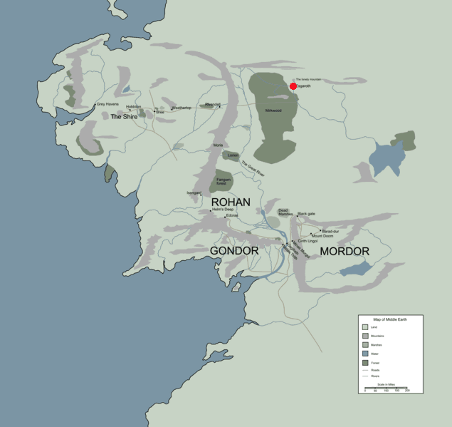 history esgaroth location map in middle earth