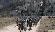 Армии Гондора и Рохана выдвинулись из Минас-Тирита на Битву за Средиземье