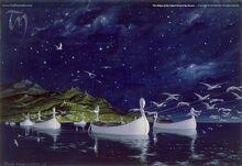 Die von Schwänen gezogenen Schiffe der Teleri