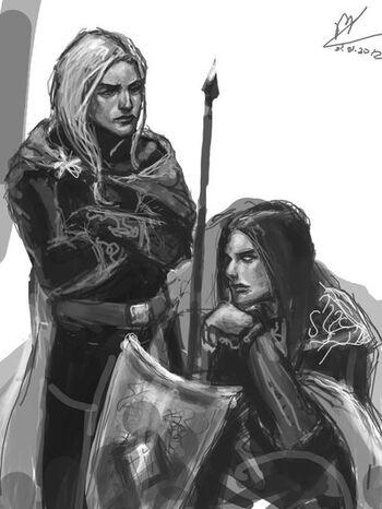Elwë i Finwë – autorstwa Maureval
