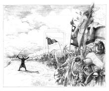 The death of celebrimbor by abepapakhian-d53u6xk