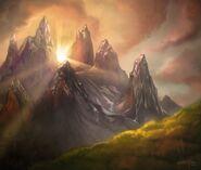 Мглистые горы-карточки
