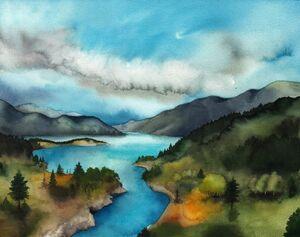 Nenuial lake evendim by sarkaskorpikova