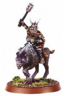 Golfimbul, Goblin Chieftain of Mount Gram (2) - Mount on Warg