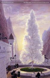Białe Drzewo Gondoru autorstwa Teda Nasmitha