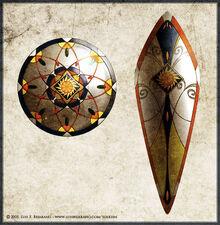 Noldorin shields by LuisFBejarano