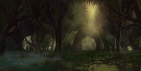 Across middle earth the eaves of fangorn by ralphdamiani