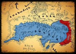 Ithilien - mapa