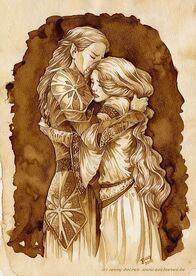 Finarfin and Galadhriel by Jenny Dolfen