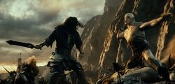 The Hobbit Thorin vs Azog