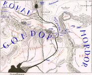 East gondor west mordor and south rohan