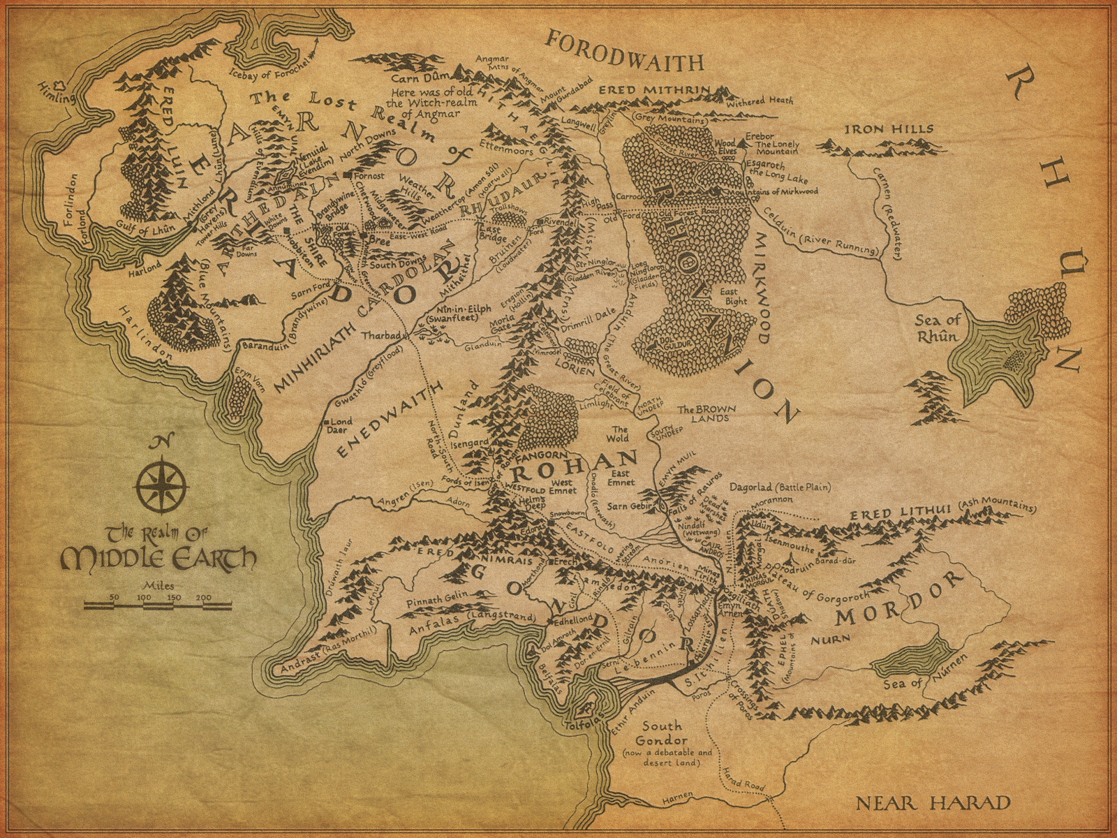 Image middle earth mapg the one wiki to rule them all middle earth mapg sciox Gallery
