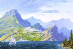White Ships from Valinor, by Ted Nasmith (cropped)