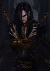 Melkor chained in the halls of mandos by rosythorns-d8iysgh