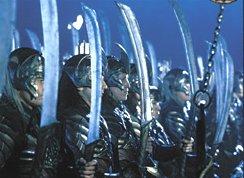 Woodelf warriors atthe dark lands