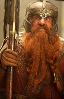 Gimli at the siege of moria
