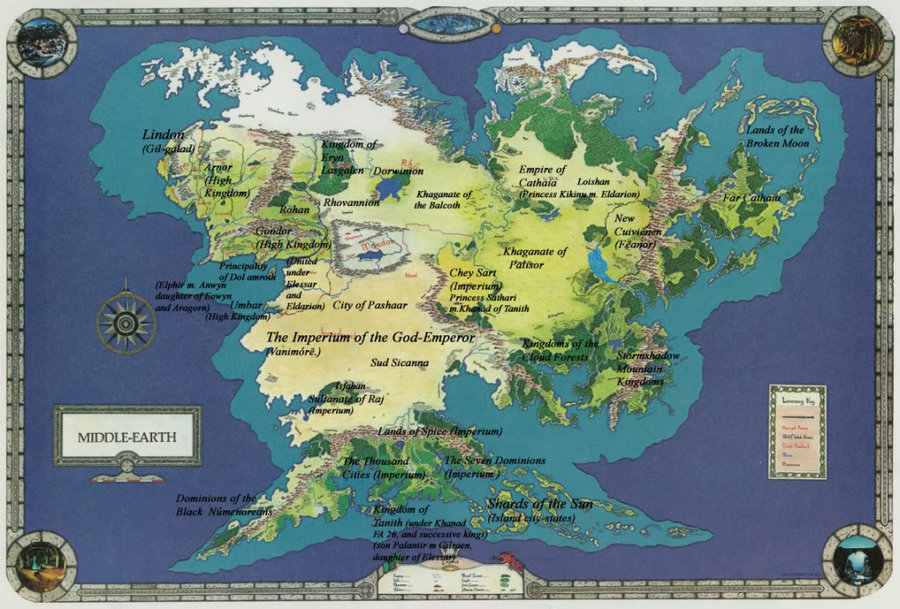 Image   Map of arda .jpeg | The Lord of the Rings Minecraft Mod