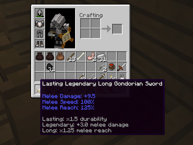 Equipment Modifiers The Lord Of The Rings Minecraft Mod Wiki Fandom