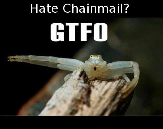 Spider Chainmail Meme