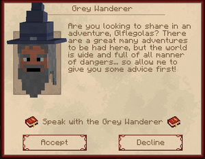 Grey Wanderer | The Lord of the Rings Minecraft Mod Wiki